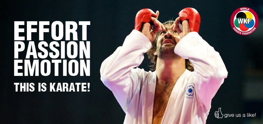 WKF Effort Passion Emotion this is karate